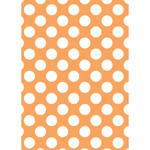 Westcott Large Dots Art Canvas Backdrop with Grommets (5 x 7', Orange)