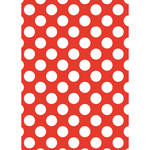Westcott Large Dots Matte Vinyl Backdrop with Grommets (5 x 7', Red)