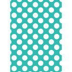 Westcott Large Dots Matte Vinyl Backdrop with Grommets (5 x 7', Turquoise)