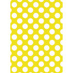 Westcott Large Dots Matte Vinyl Backdrop with Grommets (5 x 7', Yellow)