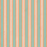 Westcott Striped Wallpaper Art Canvas Backdrop with Hook-and-Loop Attachment (3.5 x 3.5', Orange)