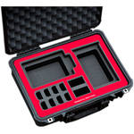 Jason Cases Hard Case for SmallHD DP-7 OLED Monitor Kit (Red Overlay)