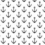 Westcott Anchors Pattern Art Canvas Backdrop with Hook-and-Loop Attachment (3.5 x 3.5', Black)
