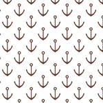 Westcott Anchors Pattern Art Canvas Backdrop with Hook-and-Loop Attachment (3.5 x 3.5', Brown)