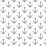 Westcott Anchors Pattern Art Canvas Backdrop with Hook-and-Loop Attachment (3.5 x 3.5', Gray)