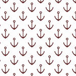 Westcott Anchors Pattern Art Canvas Backdrop with Hook-and-Loop Attachment (3.5 x 3.5', Red)