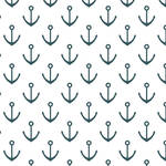 Westcott Anchors Pattern Art Canvas Backdrop with Hook-and-Loop Attachment (3.5 x 3.5', Turquoise)
