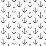 Westcott Anchors Pattern Matte Vinyl Backdrop with Hook-and-Loop Attachment (3.5 x 3.5', Purple)