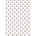 Westcott Anchors Pattern Matte Vinyl Backdrop with Grommets (5 x 7', Brown)