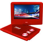 "Pyle Home 7"" Portable DVD Player (Red)"