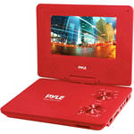 "Pyle Home 9"" Portable DVD Player (Red)"