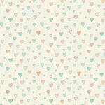 Westcott 3.5 x 3.5' Sketched Hearts/Canvas Backdrop - Multi Color