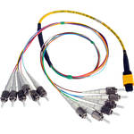 "Camplex MTP Elite APC Male to 12 ST UPC Internal Yellow Single Mode Fiber Breakout Cable (18"")"