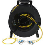 Camplex 4-Channel Fiber Optic Tactical Cable Reel with ST Connectors (250')