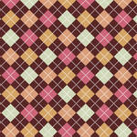 Westcott Diamond Plaid Art Canvas Backdrop with Hook-and-Loop Attachment (3.5 x 3.5', Brown)