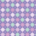 Westcott Diamond Plaid Art Canvas Backdrop with Hook-and-Loop Attachment (3.5 x 3.5', Orchid)