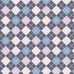 Westcott Diamond Plaid Matte Vinyl Backdrop with Hook-and-Loop Attachment (3.5 x 3.5', Blue)