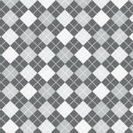 Westcott Diamond Plaid Matte Vinyl Backdrop with Hook-and-Loop Attachment (3.5 x 3.5', Gray)