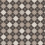 Westcott Diamond Plaid Matte Vinyl Backdrop with Hook-and-Loop Attachment (3.5 x 3.5', Mocha)
