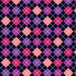 Westcott Diamond Plaid Matte Vinyl Backdrop with Hook-and-Loop Attachment (3.5 x 3.5', Purple)