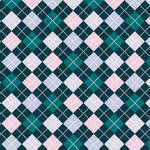 Westcott Diamond Plaid Matte Vinyl Backdrop with Hook-and-Loop Attachment (3.5 x 3.5', Turquoise)