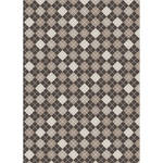 Westcott Diamond Plaid Art Canvas Backdrop with Grommets (5 x 7', Mocha)