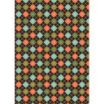 Westcott Diamond Plaid Art Canvas Backdrop with Grommets (5 x 7', Orange)