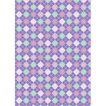 Westcott Diamond Plaid Art Canvas Backdrop with Grommets (5 x 7', Orchid)