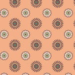 Westcott Ditsy Daisy Matte Vinyl Backdrop with Hook-and-Loop Attachment (3.5 x 3.5', Orange)