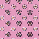 Westcott Ditsy Daisy Matte Vinyl Backdrop with Hook-and-Loop Attachment (3.5 x 3.5', Pink)