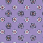 Westcott Ditsy Daisy Matte Vinyl Backdrop with Hook-and-Loop Attachment (3.5 x 3.5', Purple)
