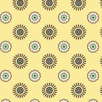 Westcott Ditsy Daisy Matte Vinyl Backdrop with Hook-and-Loop Attachment (3.5 x 3.5', Yellow)