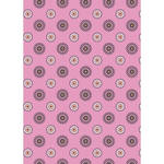Westcott Ditsy Daisy Matte Vinyl Backdrop with Grommets (5 x 7', Pink)