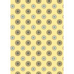Westcott Ditsy Daisy Matte Vinyl Backdrop with Grommets (5 x 7', Yellow)