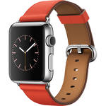 Apple Watch 38mm Smartwatch (2015, Stainless Steel Case, Red Classic Buckle Band)