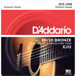 D'Addario EJ12 Medium 80/20 Bronze Acoustic Guitar Strings (6-String Set, 13 - 56)