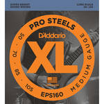 D'Addario EPS160 Medium XL ProSteels Electric Bass Strings (4-String, Long Scale, 50 - 105)