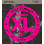 D'Addario ENR71 Regular Light XL Half Rounds Electric Bass Strings (4-String, Long Scale, 45 - 100)