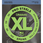 D'Addario EPS165 Custom Light XL ProSteels Electric Bass Strings (4-String, Long Scale, 45 - 105)