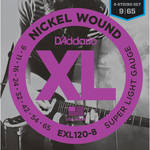 D'Addario EXL120-8 Super Light XL Nickel Wound Electric Guitar Strings (8-String Set, 9 - 65)