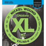 D'Addario EXL165-6 Custom Light XL Nickel Wound Electric Bass Strings (6-String, Long Scale, 32 - 135)