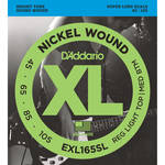 D'Addario EXL165SL Custom Light XL Nickel Wound Electric Bass Strings (4-String, Super Long Scale, 45 - 105)