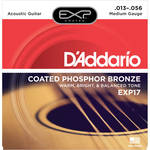 D'Addario EXP17 Medium Coated Phosphor Bronze Acoustic Guitar Strings (6-String Set, 13 - 56)