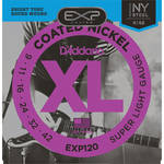 D'Addario EXP120 Super Light EXP Coated Nickel Wound Electric Guitar Strings (6-Strings, 9 - 42)