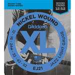 D'Addario EJ21 Jazz Light XL Nickel Wound Electric Guitar Strings (6-String Set, 12 - 52)