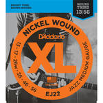 D'Addario EJ22 Jazz Medium XL Nickel Wound Electric Guitar Strings (6-String Set, 13 - 56)