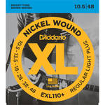 D'Addario EXL110+ Regular Light Plus XL Nickel Wound Electric Guitar Strings (6-String Set, 10.5 - 48)