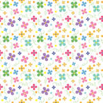 Westcott Bright Playful Posies Matte Vinyl Backdrop with Hook-and-Loop Attachment (3.5 x 3.5', Multi-Color)