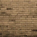 Westcott Brick Wall Art Canvas Backdrop with Hook-and-Loop Attachment (3.5 x 3.5', Brown)