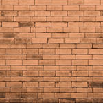 Westcott Brick Wall Art Canvas Backdrop with Hook-and-Loop Attachment (3.5 x 3.5', Orange)